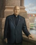 Reverend Lawrence Biondi, President Emeritus of St Louis University, 2016, oil on linen, 50 x 40