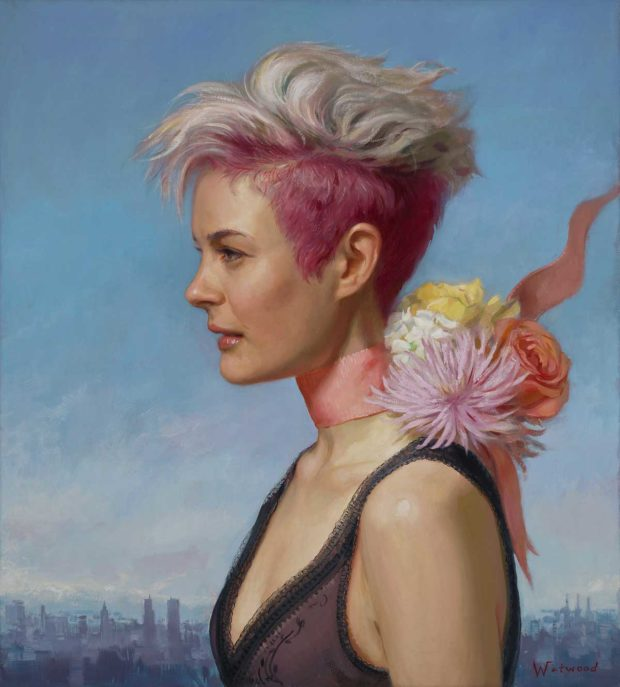 Flowers, 2016, oil on linen, 22 x 20